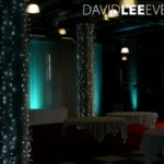 Fairy Lights and Teal uplighting