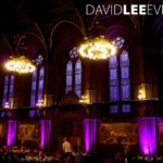 Manchester Town Hall with uplighting