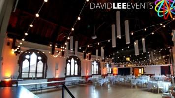 Sandbach Town Hall wedding lighting