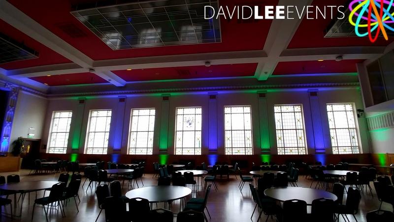Dukinfield Town Hall Uplighting
